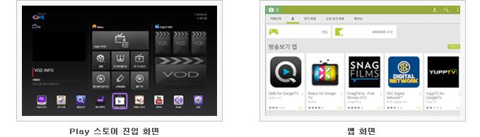 즐겨찾기 서비스 화면캡쳐 : 1단계 선호 채널 화면 2단계 추천 VOD 화면 화면 3단계 추천 사이트 화면 4단계 추천 앰 화면 5단계 최근 사용 앱 화면